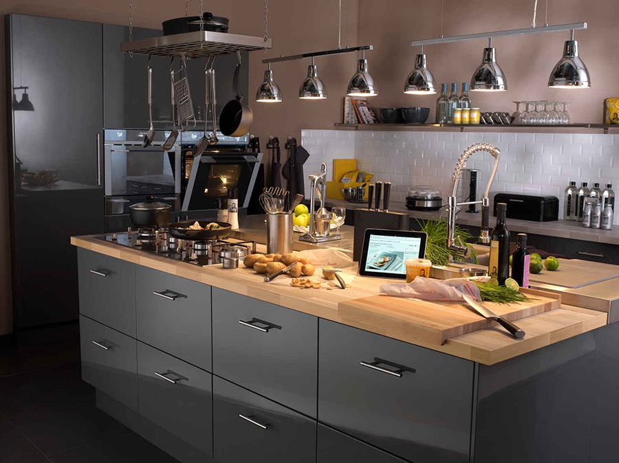 Caisson et tiroir de cuisine Delinia iD  Leroy Merlin